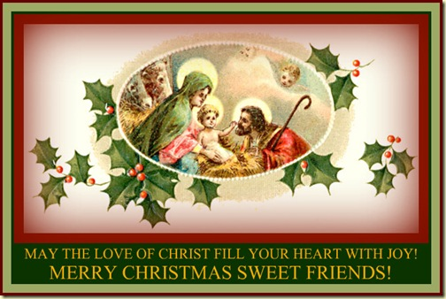 Christmas:  May the Love of Christ Be With You